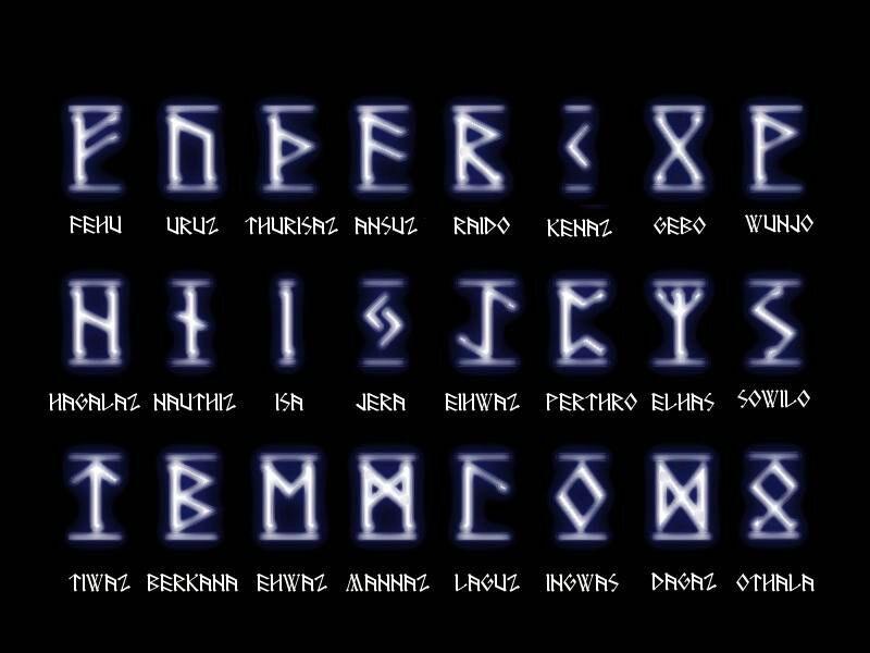 Elder Futhark Runic Alphabet 10101 Celtic Amino