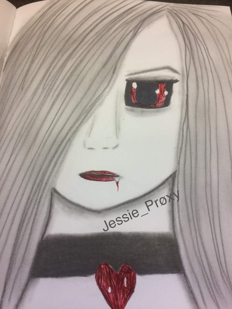 Anime vampire girl drawing