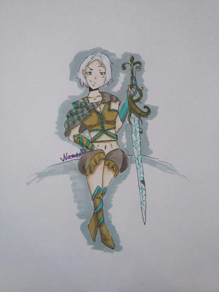 Anime sword girl drawing chat roleplay amino