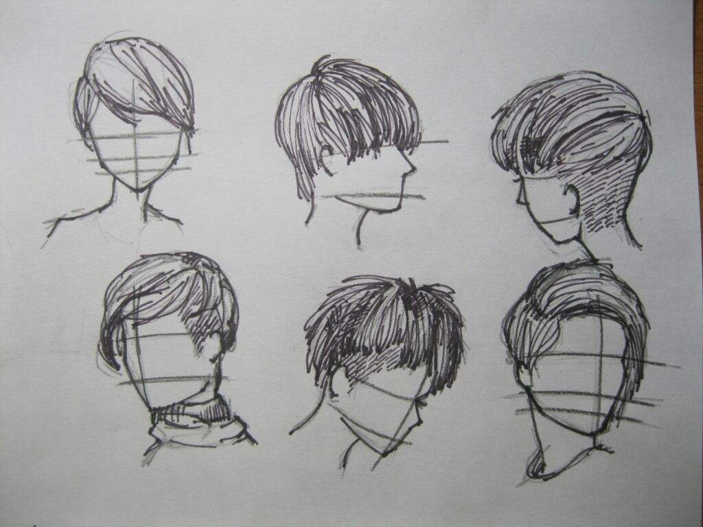 Прически мальчиков картинки карандашом