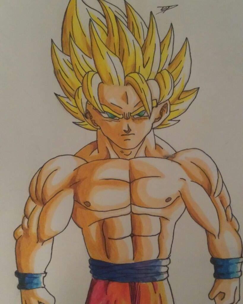 Goku Super Saiyan 2 Without His Shirt Dragonballz Amino