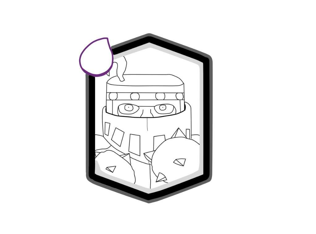 Dibujospara Colorear Clash Royale: Versión Propia Del MegaCaballero (Dibujo/Carta)•🀄