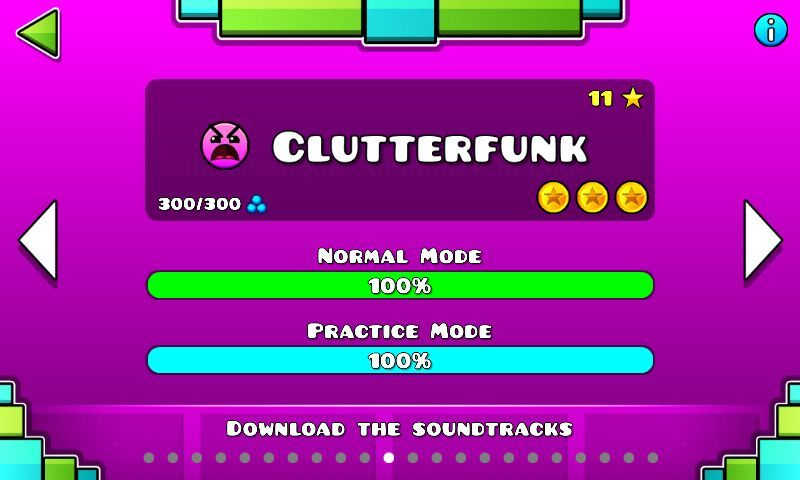Music - Clutterfunk to Electrodynamix | Geometry Dash Amino