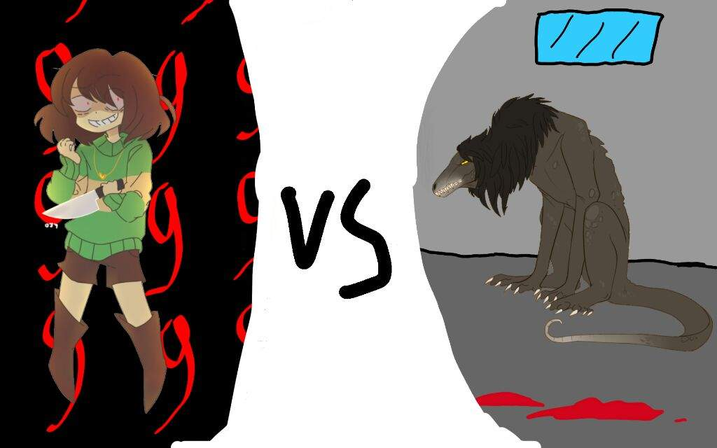 Chara vs SCP-682 ( who ) | Cartoon Fight Club Amino