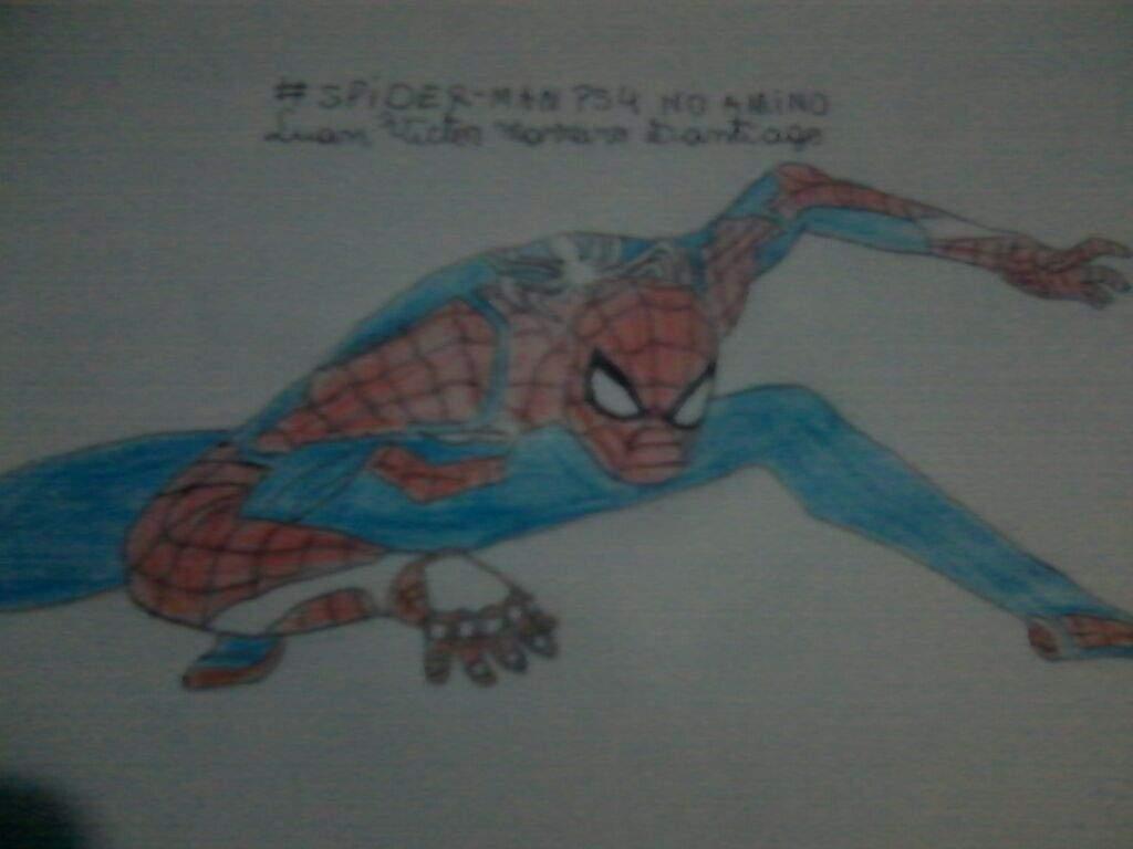 Minha Nova Fan Art Melhorada Do Spider Man Ps4 Homem