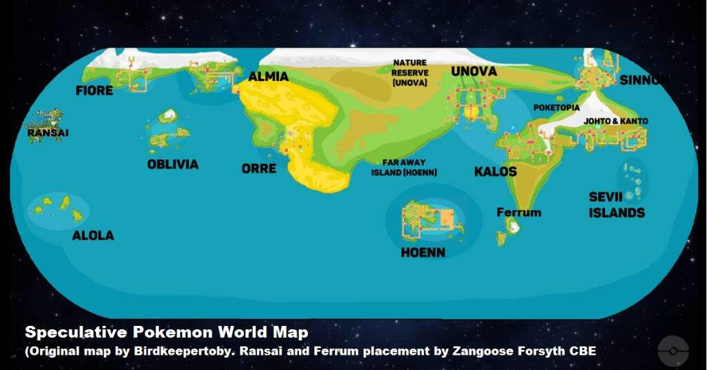 Speculative Pokemon World Map | Pokémon Amino