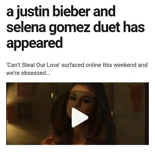 A Justin Bieber And Selena Gomez Duet Has Appeared Beliebers