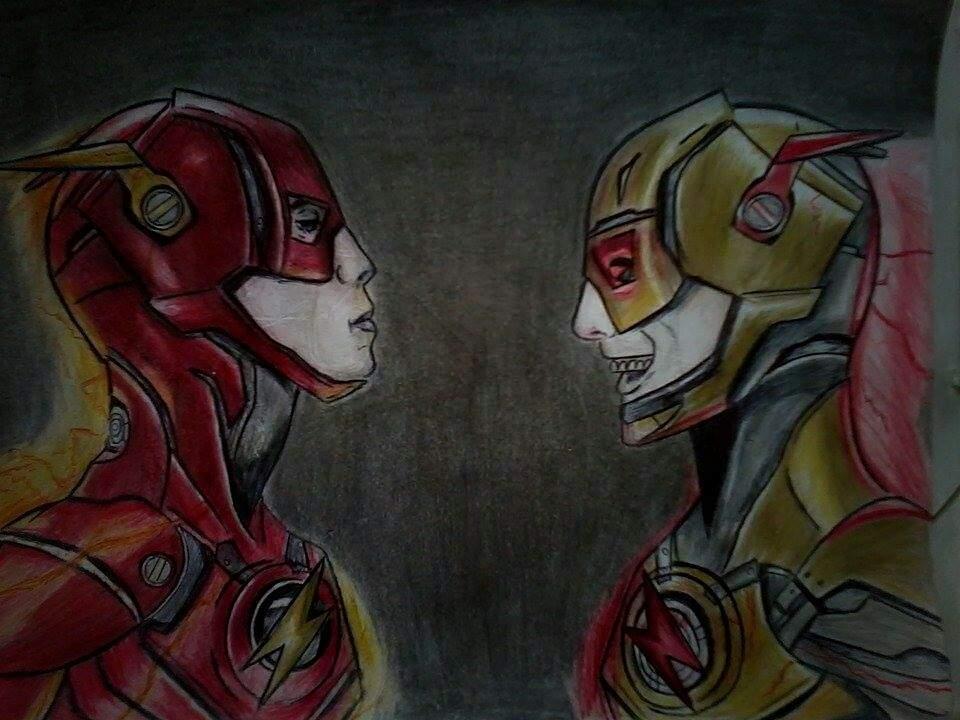 Desenho Do Flash E Flash Reverso Dc Comics Amino