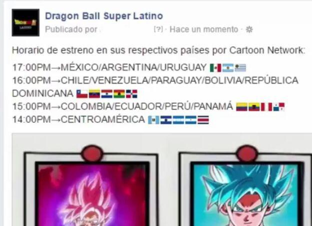 horarios confirmados dbs latino dragon ball super oficial