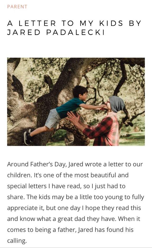 Jared's letter to his children ❤️   Supernatural Amino