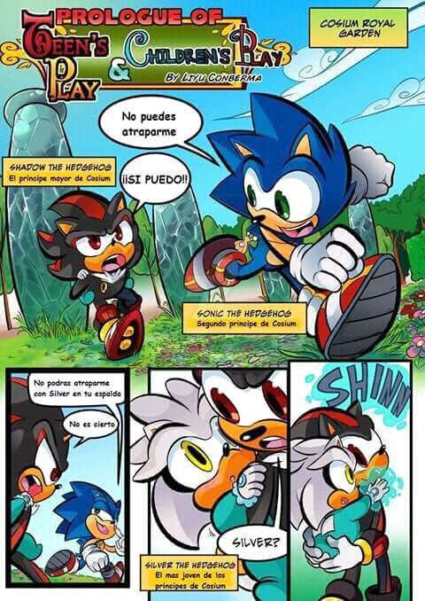 Comic De Sonic Shadow Y Silver 3 Sonic The Hedgehog