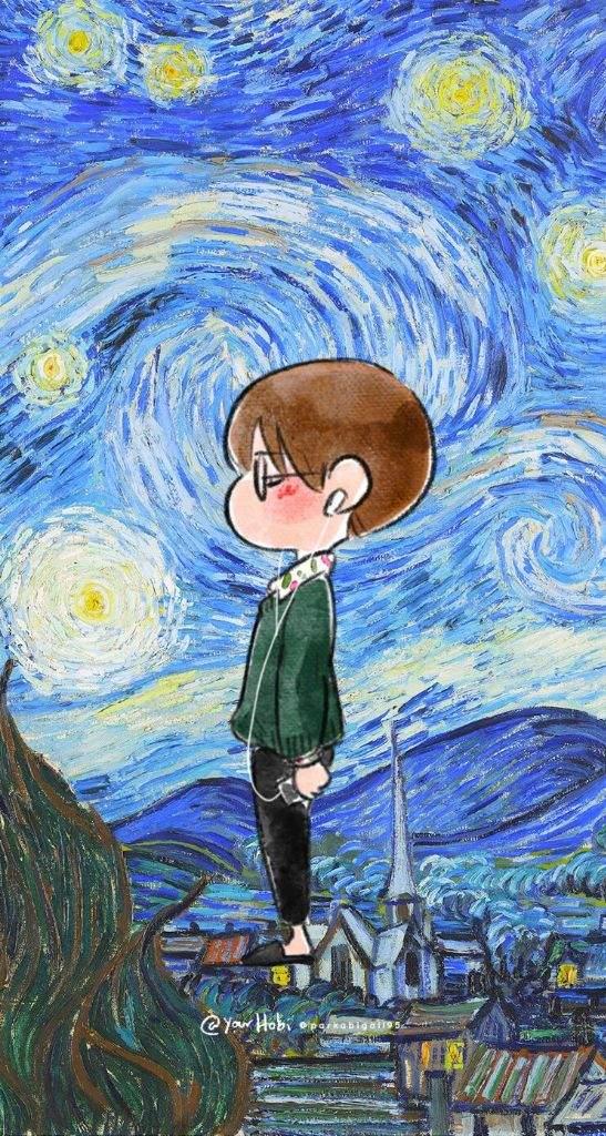 Taetae X Van Gogh Phone Wallpaper Kim Taehyung Amino