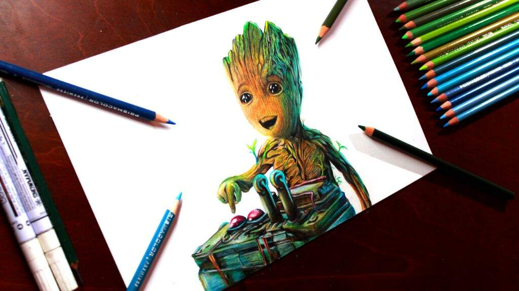Drawing Baby Groot Art Amino