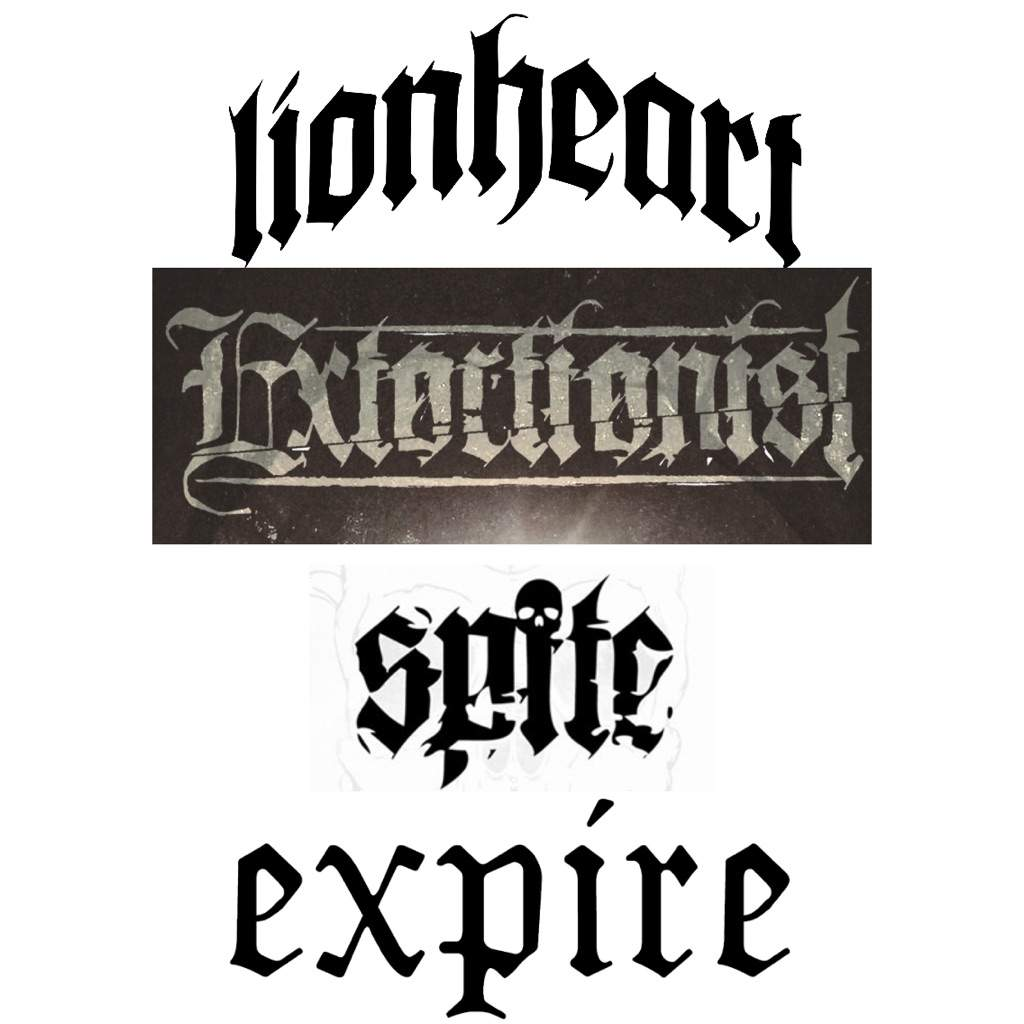 Despite My Name For Them These Logos Do Not Just Apply To Hardcore Bands I Have Seen Several Deathcore And Metalcore Use This Style