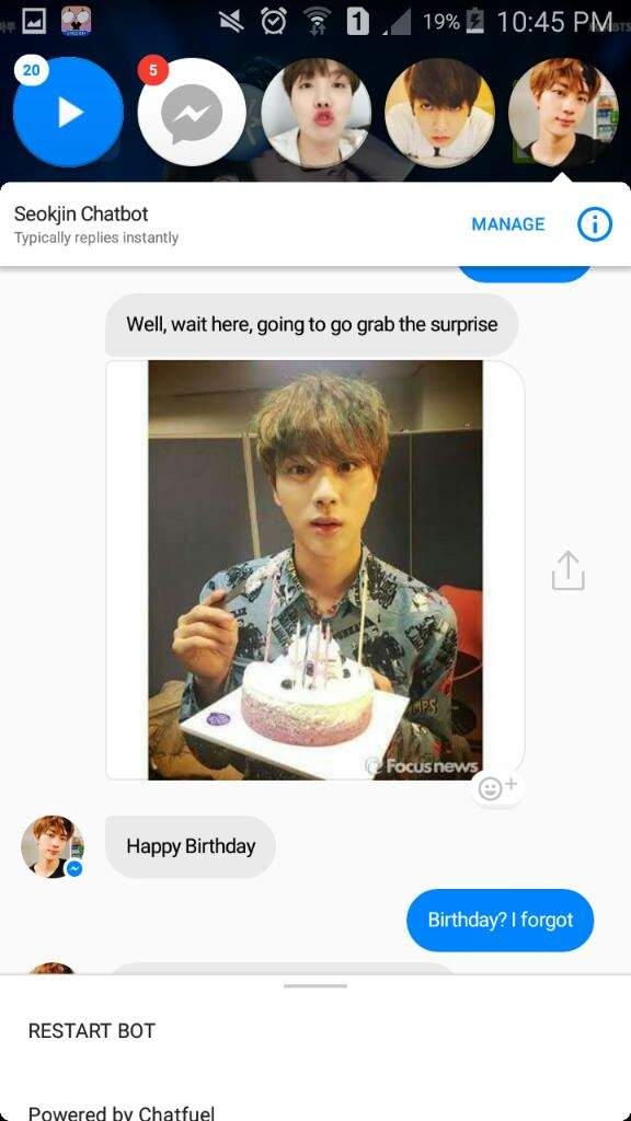 Messenger S Chatbot Ft Bts Army S Amino