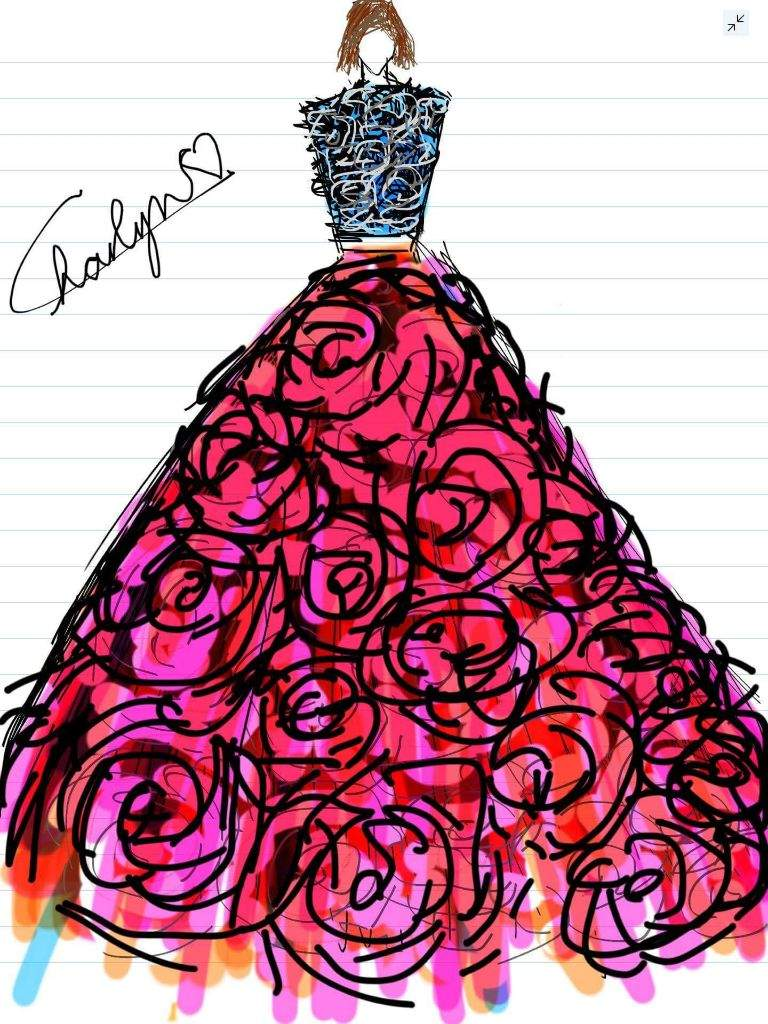 Random Sketched In My Ipad Fashion Design Amino