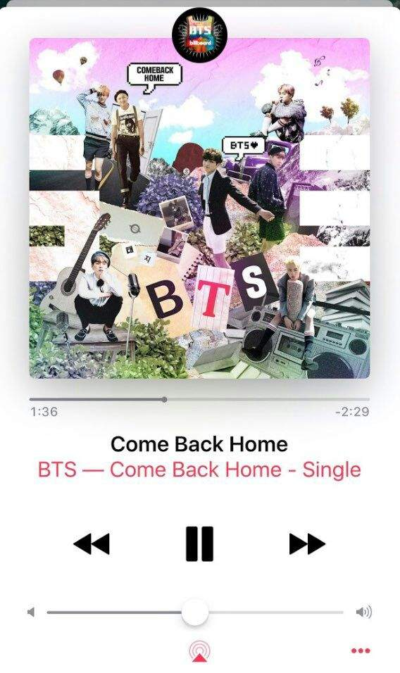 show your strong power by charting come back home on itunes