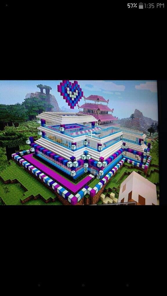 My ocean view minecraft unicorn house 😀   Minecraft Amino