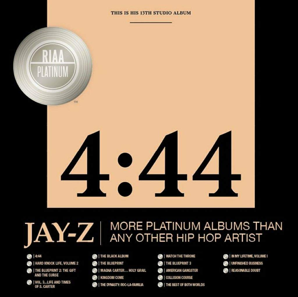 444 goes platinum with features hip hop amino consecutive platinum lp release a run that began with 1996s reasonable doubt his biggest selling album to date according to the riaa is vol 2 malvernweather Image collections