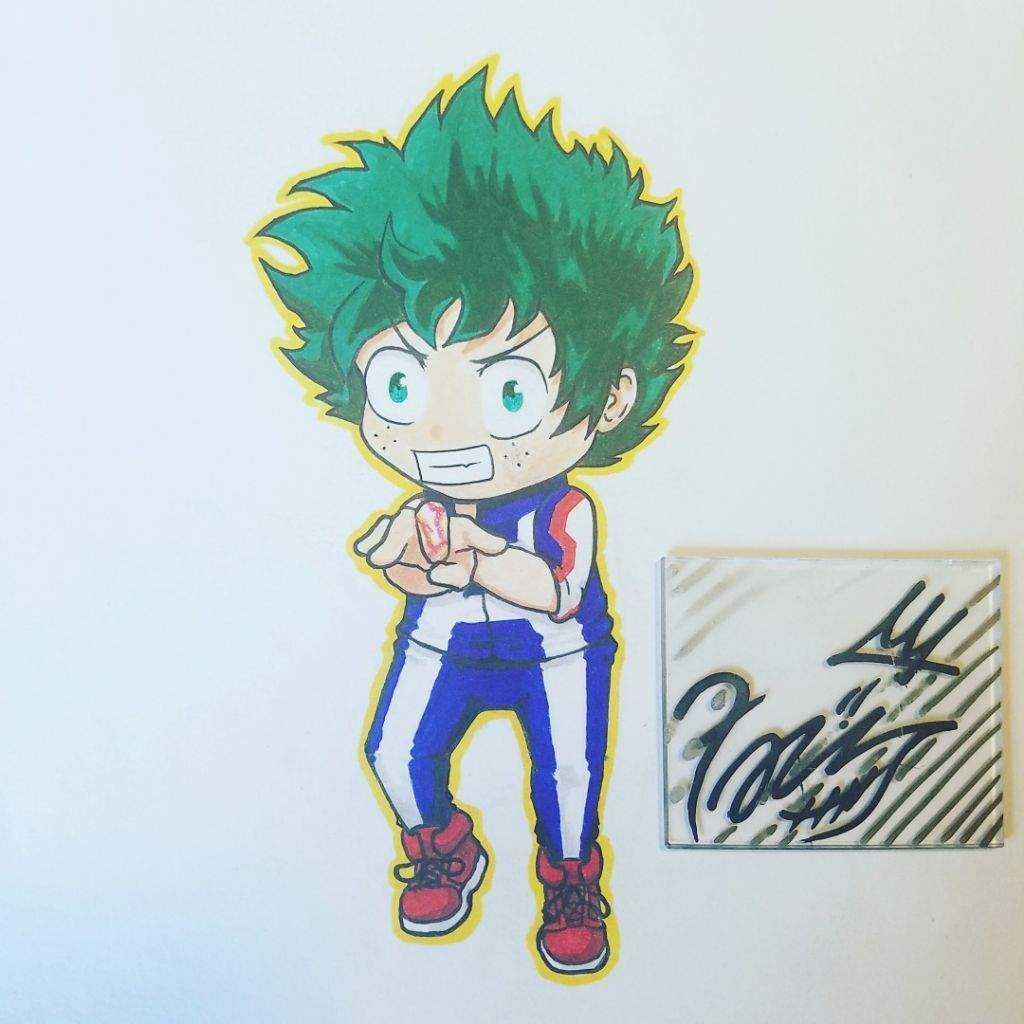 Chibi Deku Drawing Process
