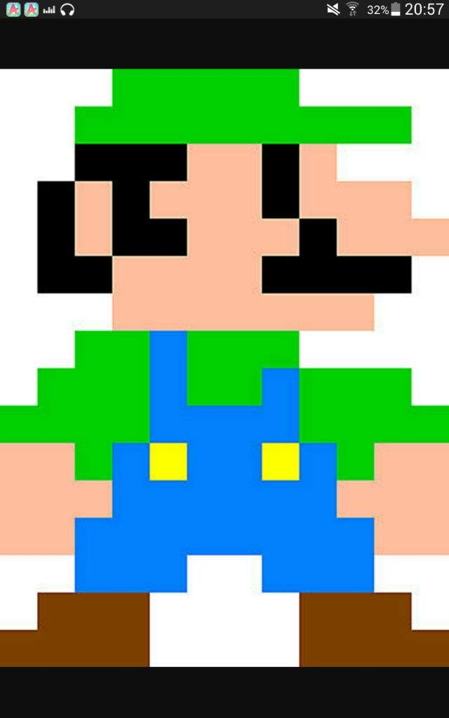Drawing 8 Bit Characters Luigi Pt1
