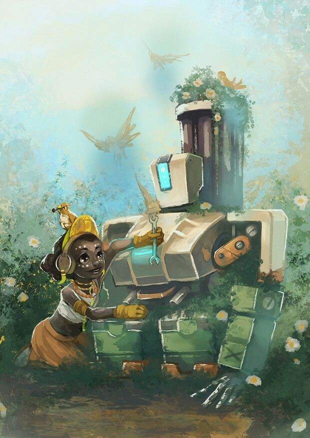 bastion cute art overwatch amino