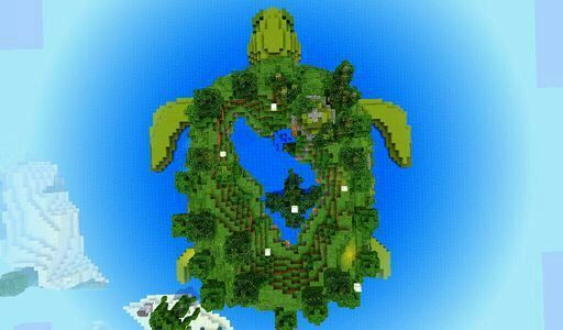 Awesome Turtle Island In Minecraft Turtle Tortoise Amino