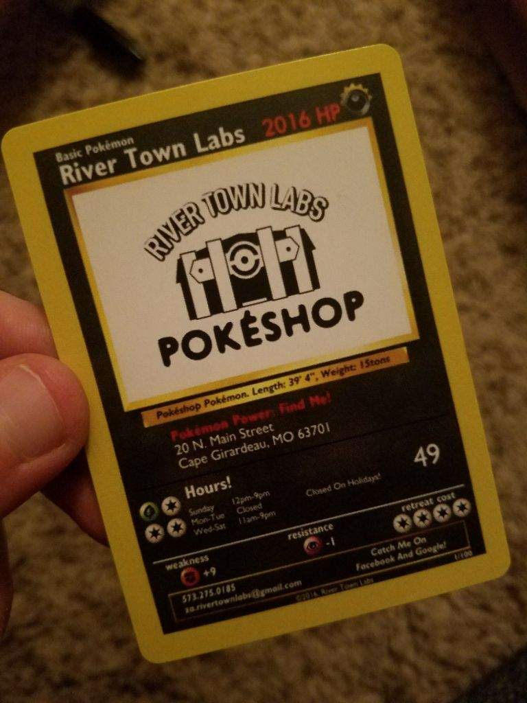 This is my towns pokshop business card pokmon amino colourmoves