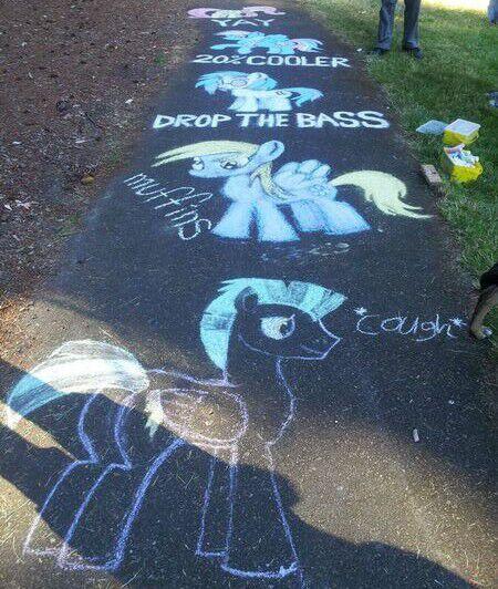 My Mlp Chalk Art Equestria Amino
