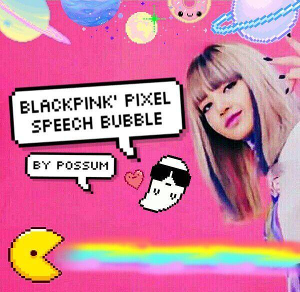 BLACKPINK Pixel Speech Bubble ] 👻