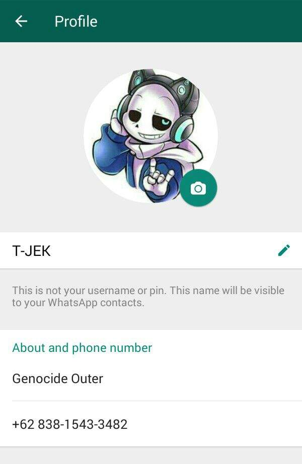 This Is My Whatsapp Undertale Amino