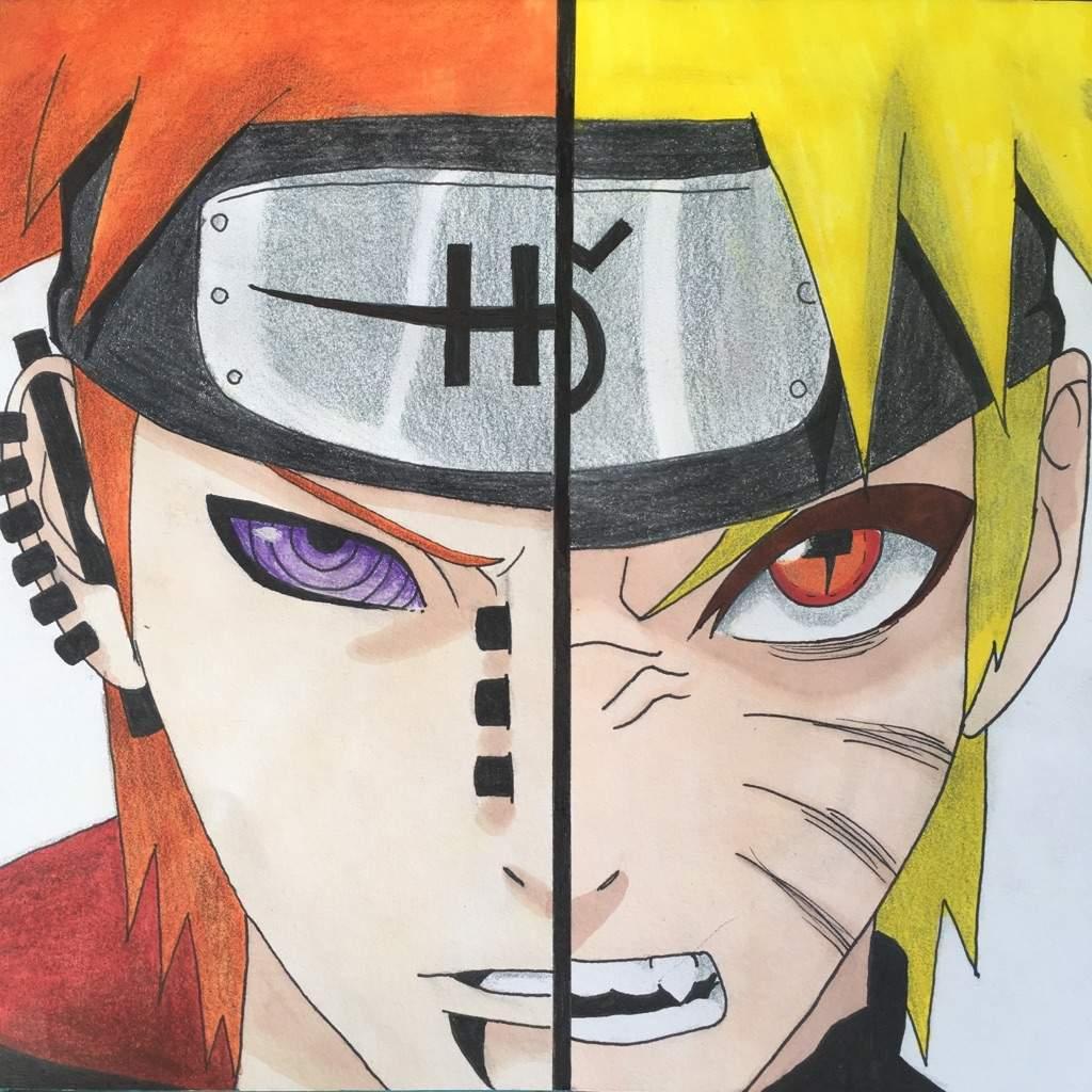 Naruto Drawings: [Draw] Pain & Naruto 🔥