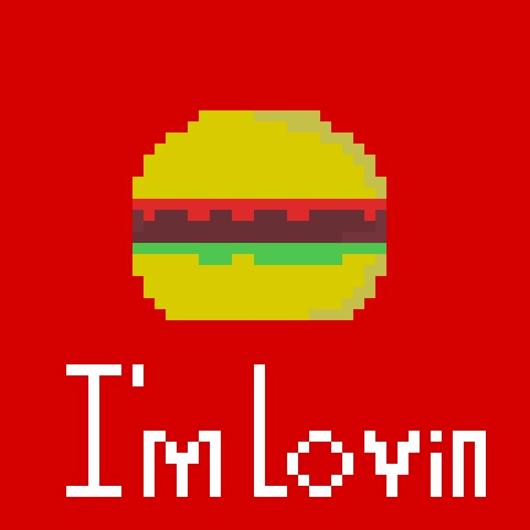 Mcdonalds Burger Pixel Art Amino