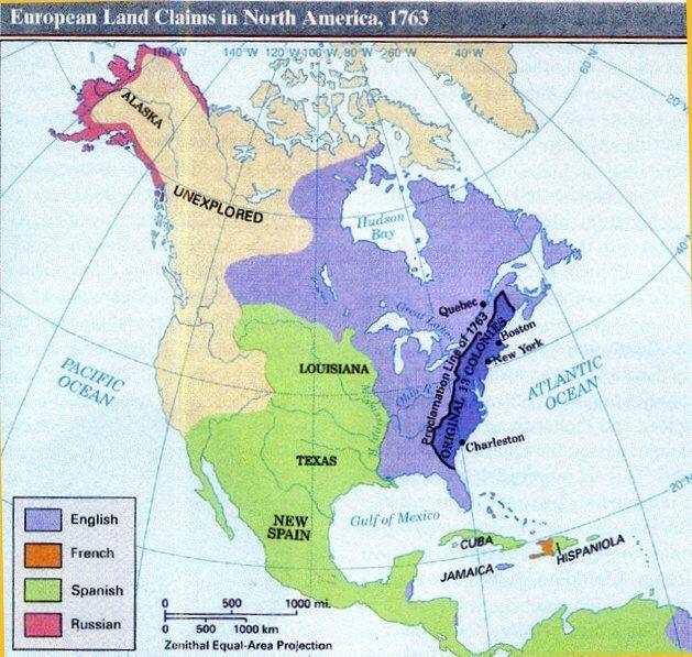 The Birth Of The United States Language Exchange Amino - Us map 1763