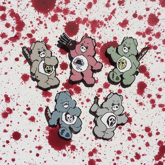 From True Heart Captain Spaulding To Friend Sam Bear, The Scare Bears Enamel  Pins Are The Perfect Gift For Horror Loving Friends. Etsy Link