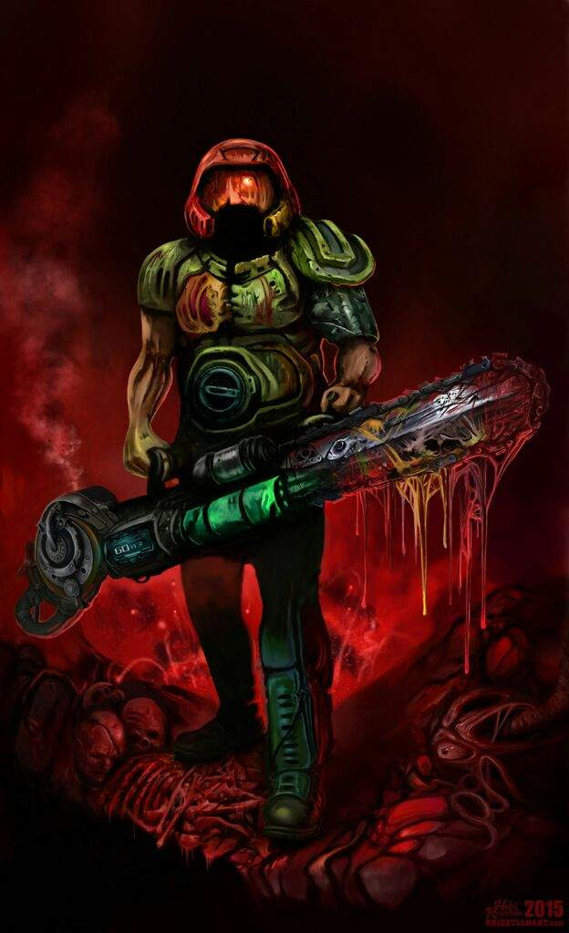 Some Awesome Doomguy Artwork Video Games Amino
