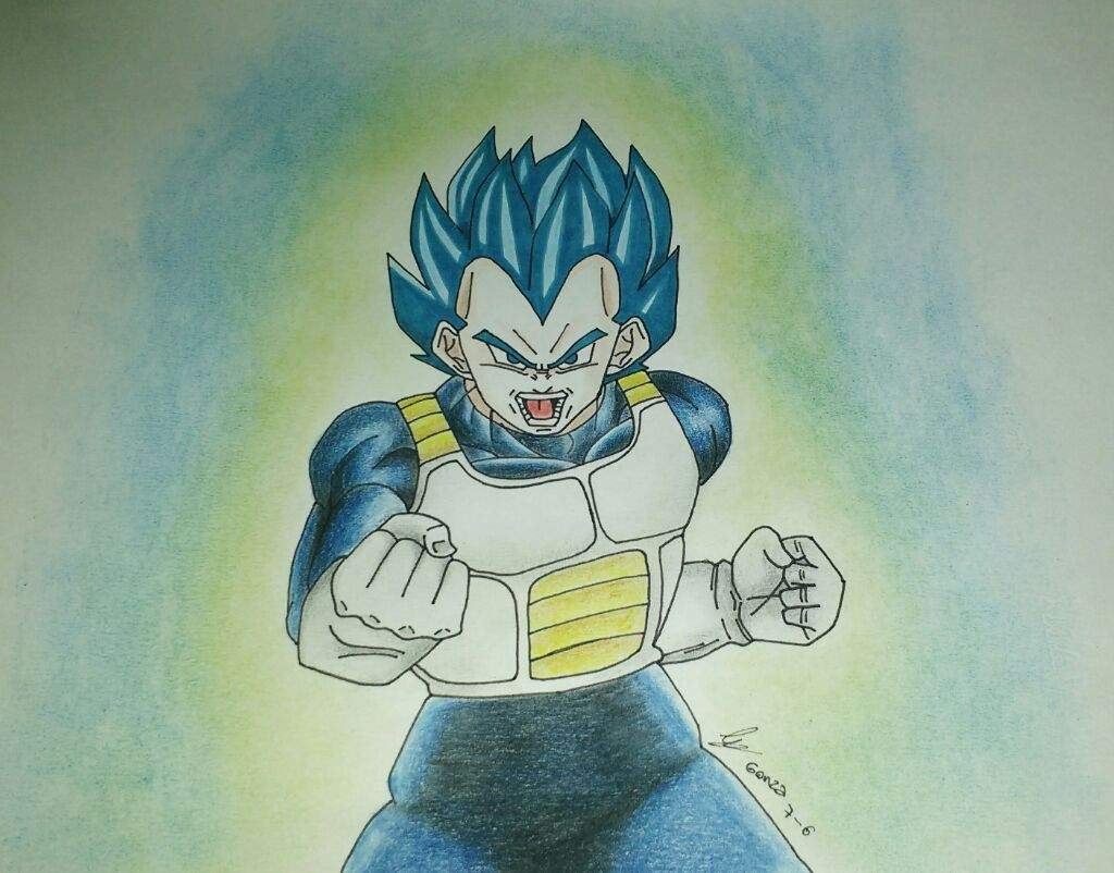 VEGETA ssj Dios Azul  Dibujos de Dragon Ball Amino