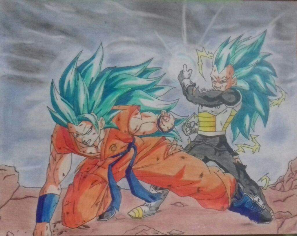 Goku ssj3 blue vs vegeta ssj3 blue   Arte Anime Amino Amino