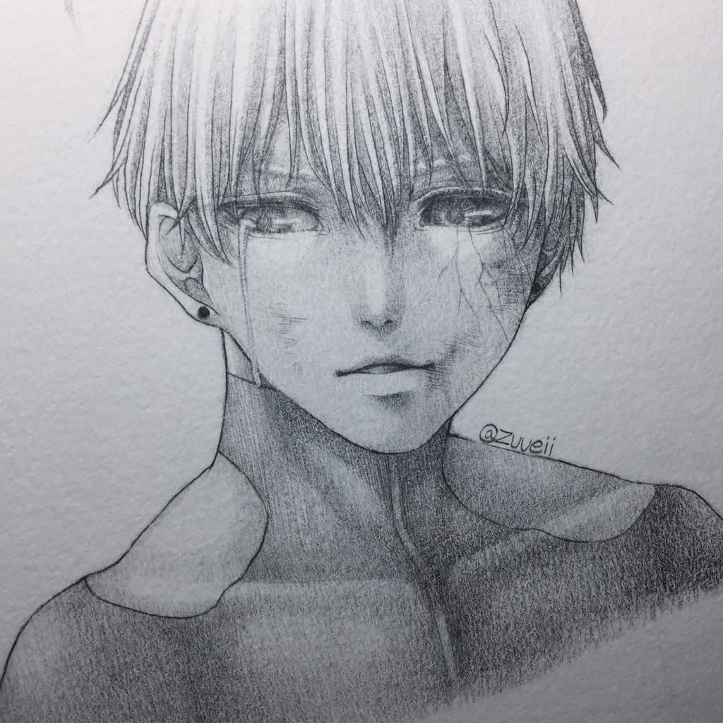 Kaneki Pencil Art Shading Technique Anime Amino