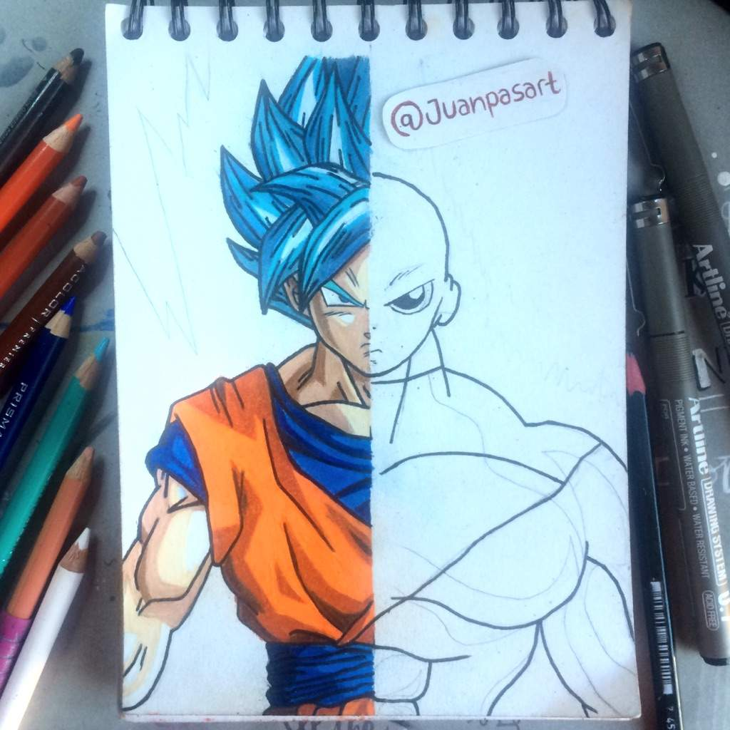 Dibujo Goku Vs Jiren