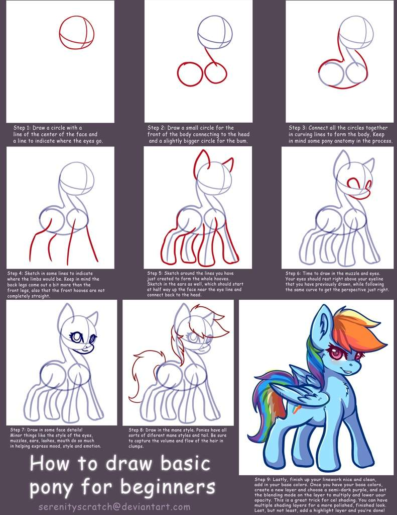 🎨How to Draw a Pony (for beginners)🎨 | Equestria Amino