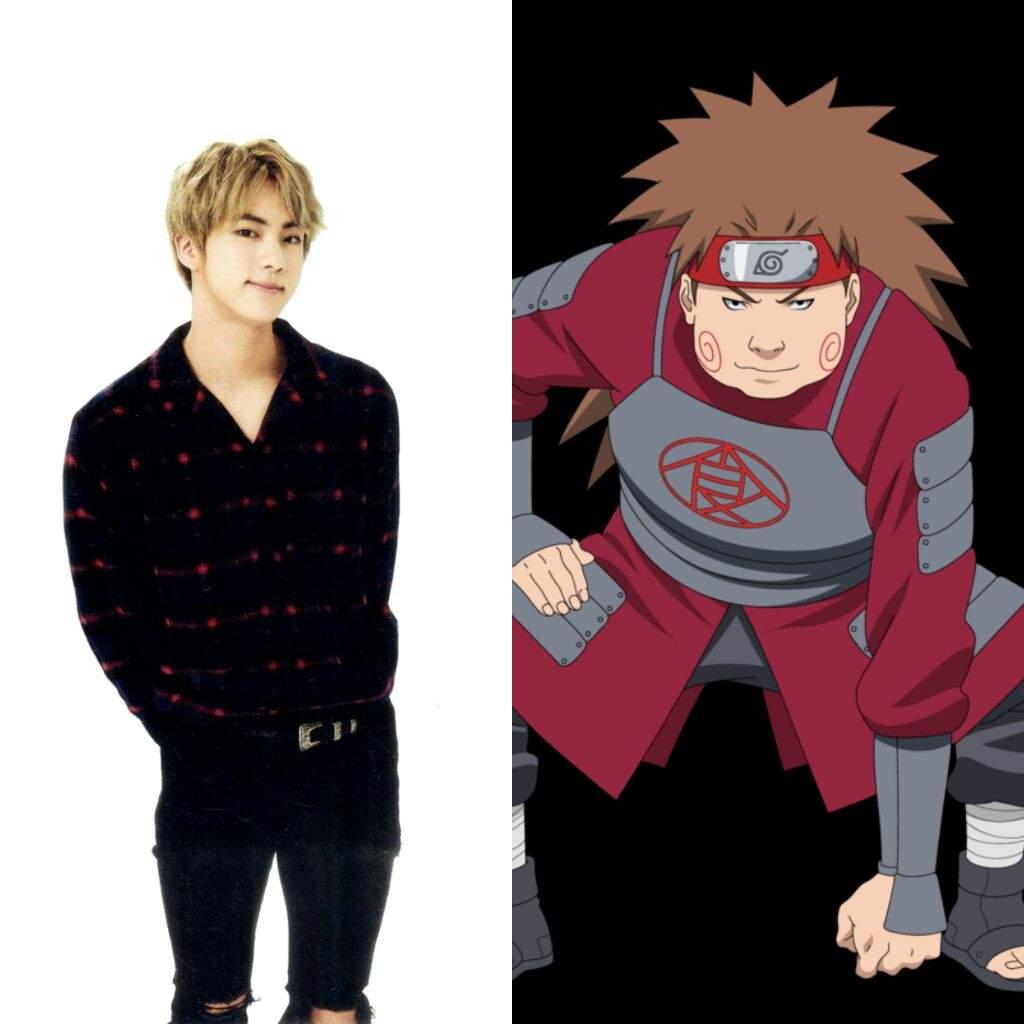 BTS Dalam Karakter Kartun Naruto