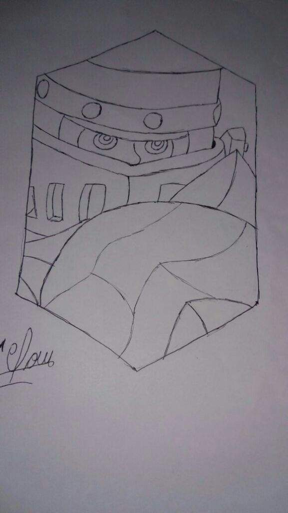 Fabuloso Meu desenho do megacavaleiro | Clash Royale Amino Oficial© Amino GX12