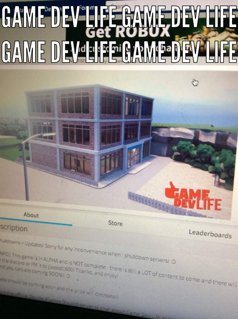 Would You Play Jailbreak Or Game Dev Life | Roblox Amino