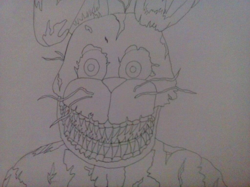 Dibujo De Nightmare Bonnie Fnaf Amino Español