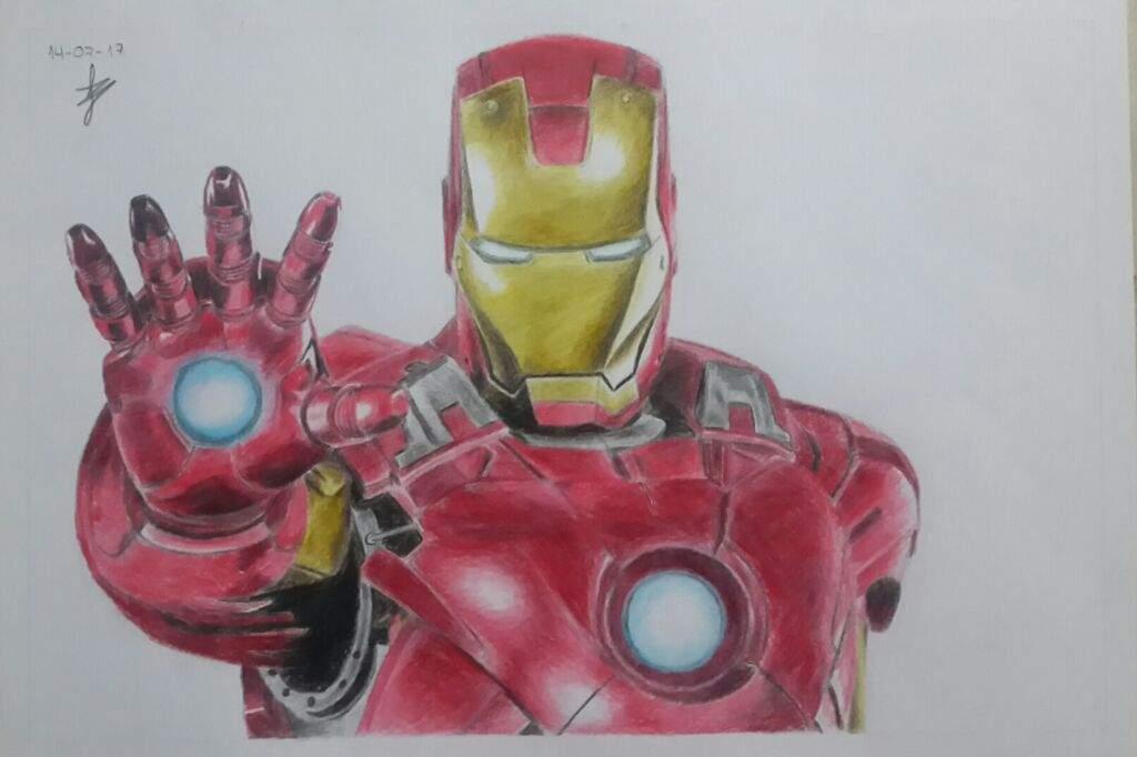 Dibujo De Iron Man Anime Amino