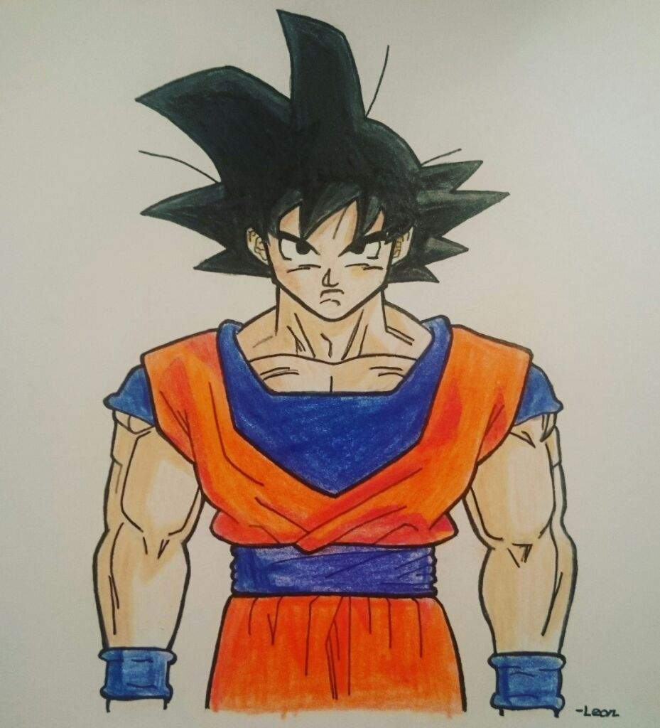 Goku Base Form.   DragonBallZ Amino