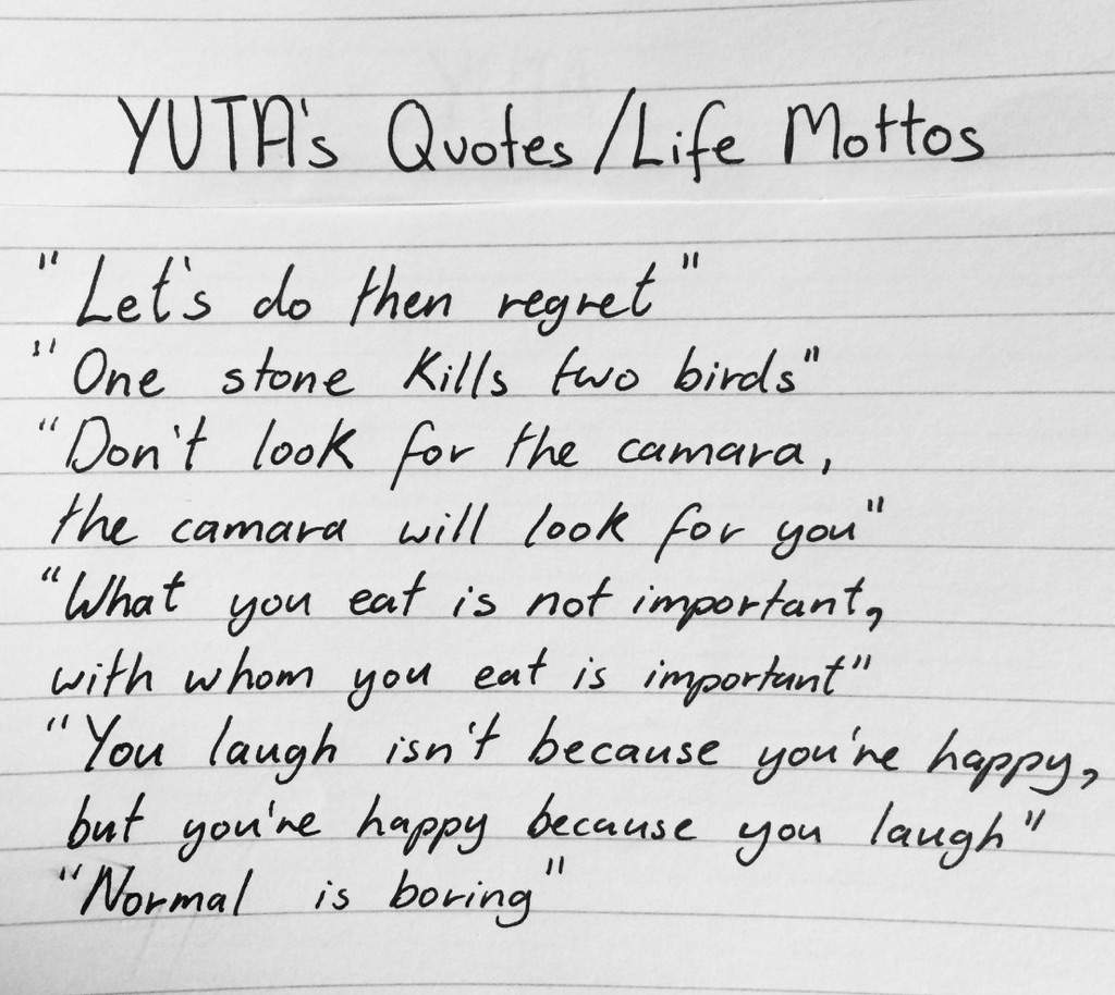 Quotes About Whats Important In Life Yutaquotes & Life Mottos  Nct Amino Amino