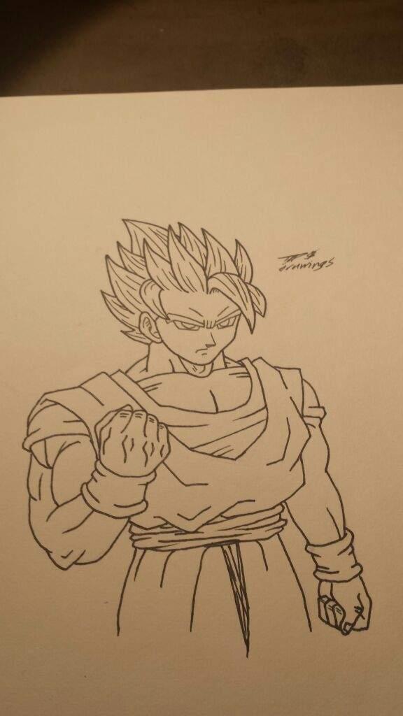 Goku super saiyan 2 drawing  DragonBallZ Amino