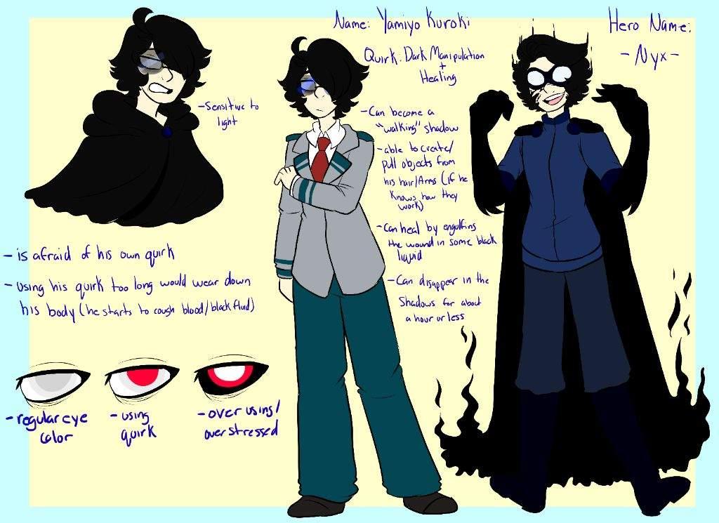 BNHA OC: Kuroki Yamiyo | My Hero Academia Amino